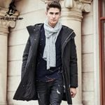 Thick winter down jacket men warm New Fashion clothing Top quality Long Male 90% White duck down coat