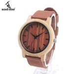New Designer Wood Watch Luxury with Fabric Strap Wooden Wristwatches Movement Quartz Watch for Friend