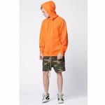 orange hooide wear Men sweatshirts men Hip Hop Streetwear pure Sweatshirts wear west Clothing pullover