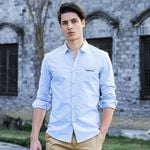 new fashion spring mens shirts long sleeve slim fit casual cool business social shirt for male