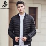 clothing thin down jacket men high quality male down coat 90% white duck down parkas men Khaki black
