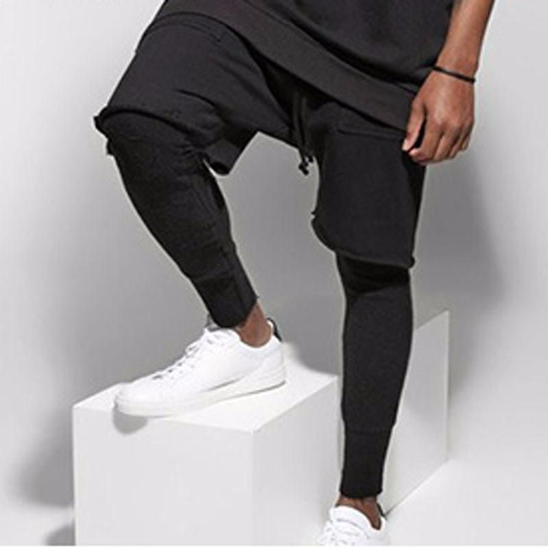 fashon Fitness Long Pants Men  Casual Sweatpants Trousers Fashion Fitted Bottoms streetwear hiphop