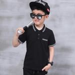 Kids boys shirts poloshirts  Boys Kid Tops T-Shirt Summer Short Sleeve T Shirt Striped PoloShirt Tops children
