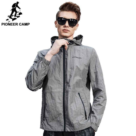 New Spring ultra thin jacket men clothing fashion casual ultra light waterproof male coat