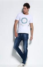 new fashion mens t shirt cotton slim fit clothing comfortable  clothing men's t- shirt male elastic