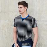 New striped T-shirt men clothing fashion short T shirt male quality casual summer Tshirt Tees