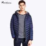 Winter Men Down Coats Clothing Casual Nylon Fabric Hooded Down Jackets Men's Outwear