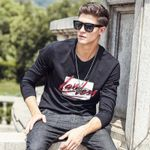 T Shirt Men Long Sleeve New Spring Brand Clothing high quality Round Neck Graffiti male Tshirt