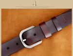 Genuine Cowskin Leather Strap Belts