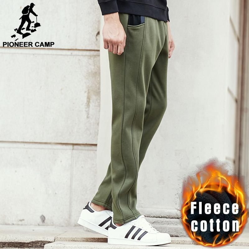 new army green warm pants men clothing autumn winter thick casual pants male quality fleece trousers