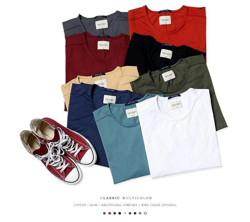 clothing new arrival  Spring long sleeve t shirt  men causal fashion young 100% cotton