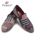 New style pattern men knitting shoes Men's fashion loafers men casual smoking slipper men's flat