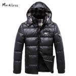 Men Slim Jacket Down Clothing Men's Casual Hooded Down Coats Male Fashion Winter Outerwear