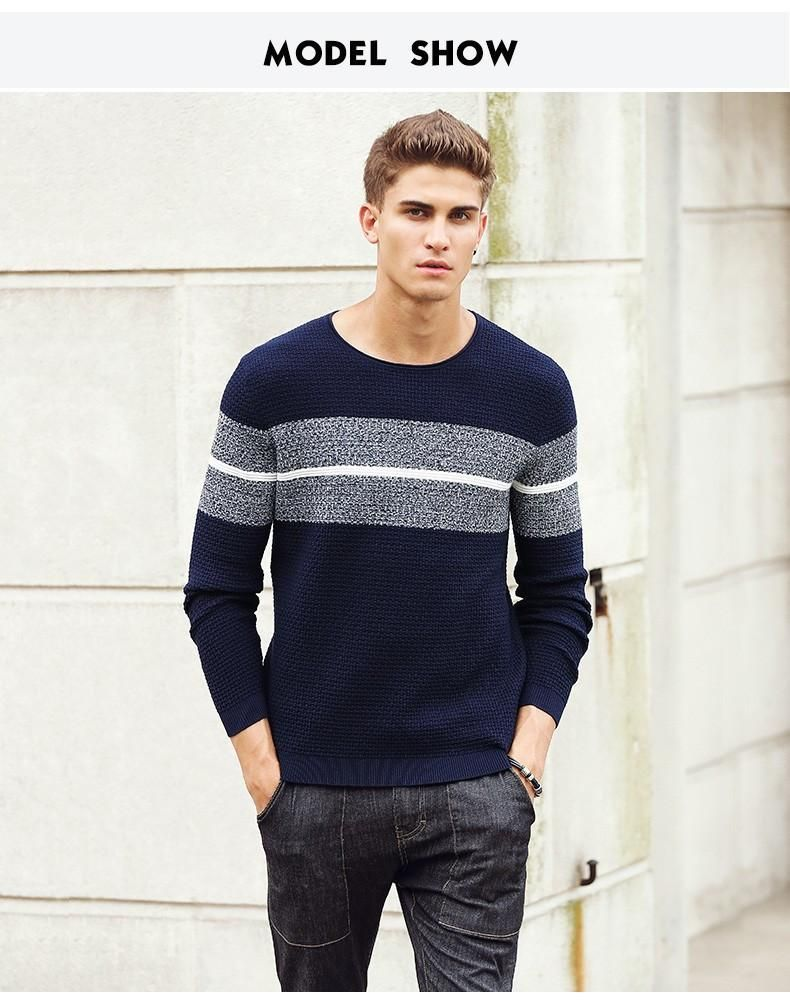 New Spring Autumn clothing Men Sweaters Pullovers Knitting fashion Designer Casual Man Knitwear