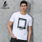 Men t-shirt clothing summer new fashion geometry design mens t shirt shorts loose print t shirts male