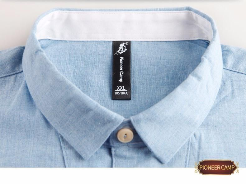 Spring new fashion men shirts blue thin 100%cotton long sleeve men work shirt casual imported clothing