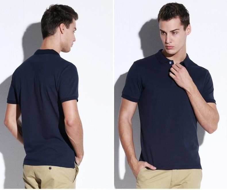 Clothing New Men Shirt Men Business & Casual solid male polo shirt Short Sleeve breathable polo shirt