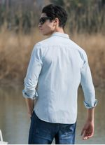 New fashion men shirts solid slim fit casual male social dress shirt long sleeve imported