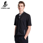 New short shirt men clothing fashion jacket style shirt male top quality casual black shirt for men