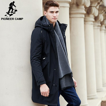 New arrival Spring  jacket men clothing cotton thick long coat male top quality fashion parkas men