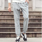New casual men pants clothing fashion Autumn winter trousers male sweat pants baggy Fleece warm pants men