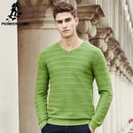 New Spring sweater men famous clothing fashion V-neck knit male sweater fashion casual pullover
