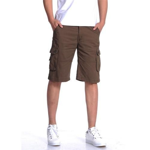 Summer Casual Shorts Fashion Knee Length Loose Mid Waist Pockets