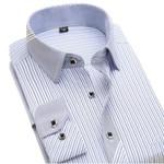 New Autumn Striped Fashion Men Dress Shirts Long Sleeve Clothing Social Non-iron Formal Business Men's Casual Shirt