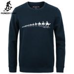 New autumn Winter fashion men hoodies casual cotton thicken male pullover tracksuit mens crewneck sweatshirt