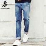 New Autumn Famous Men Slim Jeans Men Street Cotton Jeans Home Soft Pencil Pants Long Jeans Trousers