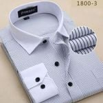 Plus Size 6XL Mens Shirt Striped Fashion Design Spring New Long Sleeve Formal Men Dress Shirts Male Social Clothes
