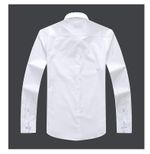 Men's Long-Sleeve Floral Printed Patchwork Shirt Contrasting Colors Square Collar Casual Slim-Fit Cotton Shirts