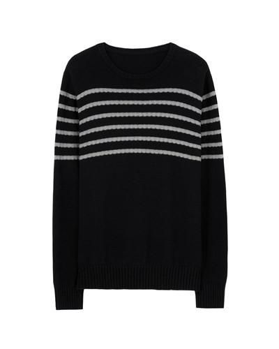 Men Sweater Knitted Pullovers Men Striped Long Sleeved Soft Cotton Knitting Clothes for Man