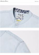 Summer Men Casual Shirts Short sleeved Denim Shirt Fashion Slim Cotton Striped Shirts