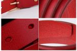 New designer Women's strap fashion casual all-match Womens cow skin leather belt for women students pure color belts
