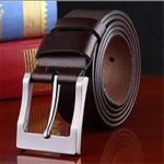 Men fashion belts 100% cowhide genuine leather for Luxury Straps male pin buckles fancy vintage jeans