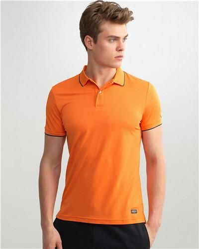 Men Polo Fast Dry Slim Breathable Solid Shirt for Men Short Sleeve Tops