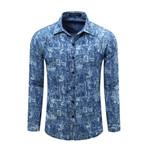 Europe Size Men's Denim Shirt New Dress Shirts Male Shirt Long Sleeve Mens Jean Shirt Classic Fashion Casual Shirt Plus Tops 081