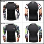 Men Compression Shirts Body building Skin Tight Long Sleeves Jerseys Clothings Crossfit Exercise Workout Fitness Sportswear