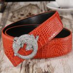 Cowhide Diamond Buckle Genuine Leather Belts