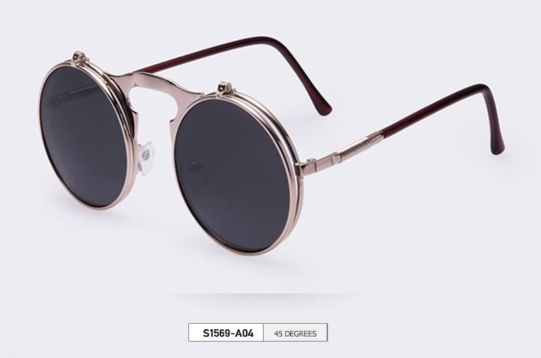 Removable Lense Round Sunglasses