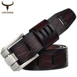 Good quality cow genuine luxury leather men belts for men strap male pin buckle