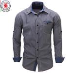 New Arrival Men's shirt  Long Sleeve Plaid Shirts Mens Dress Shirt Brand Casual Denim Style Checks Shirts 106