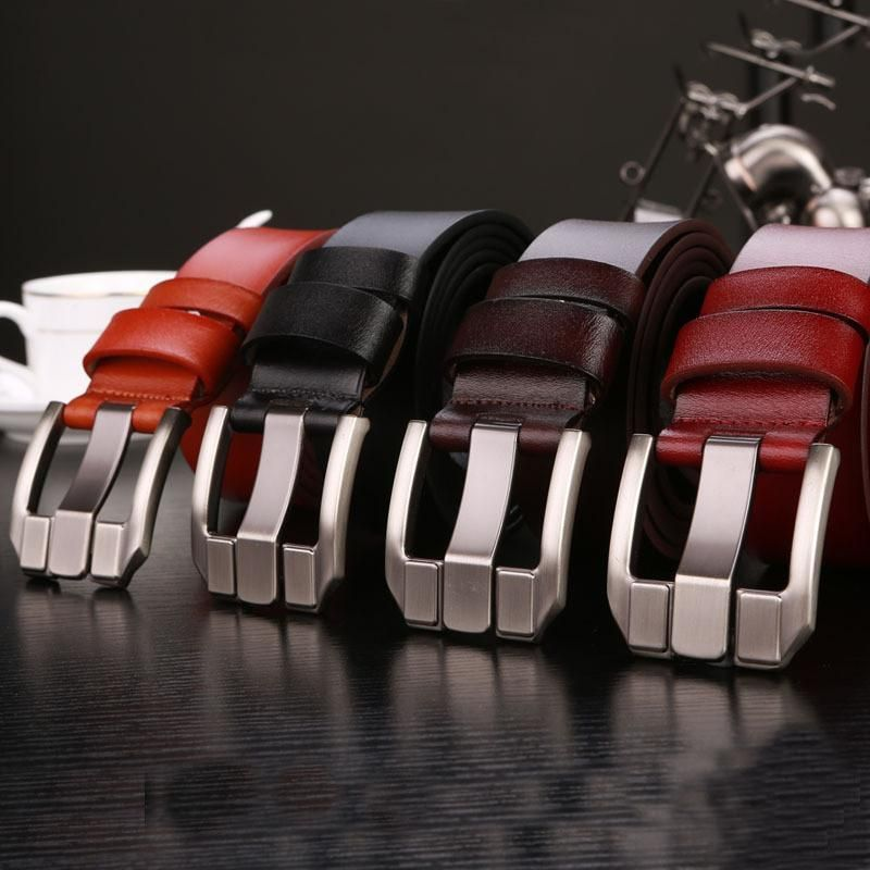 New men's belts cow skin genuine leather luxury straps for male waistband for jeans high quality