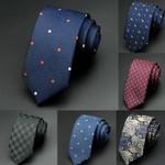 Mens Ties New Man Fashion Dot Neckties Corbatas Hombre Gravata Jacquard 6cm Slim Tie Business Green Tie For Men