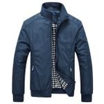 High quality Spring Jacket men mandarin collar cotton autumn men  jackets coat male Blue Black Green