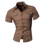 Summer Features Shirts Men Casual Jeans Solid color Shirt New short Sleeve Casual Slim Fit Male Shirts