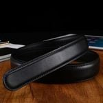 No Buckle 3.5cm Wide Real Genuine Leather Automatic Belts Body Strap Designer Belts Men High Quality Home