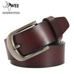 Fashion cow genuine leather men fashion classice vintage style male belts for men pin buckle size 125cm