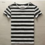 New Men Stripe T-Shirt Fashion O Neck Short Sleeved Slim Fit Blue Striped T shirt Man